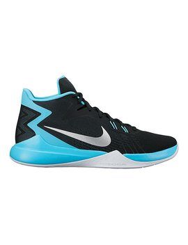Nike Men's Zoom Evidence Basketball Shoes   Black/Blue by Sport Chek