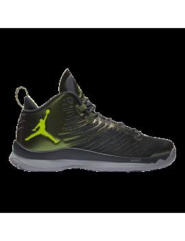Nike Men's Jordan Super Fly 5 Basketball Shoes   Black/Green by Sport Chek