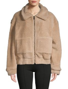 Textured Faux Fur Teddy Jacket by Lea & Viola
