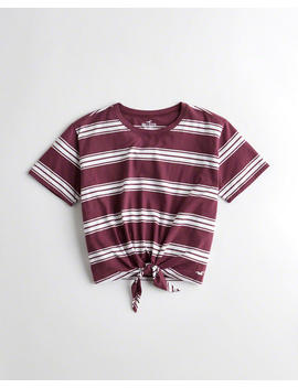 Tie Front Easy T Shirt by Hollister
