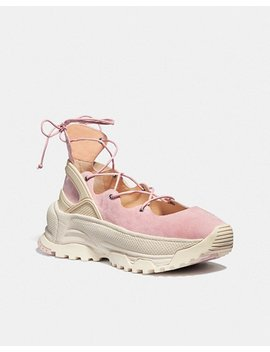 Lace Up Ballerina Sneaker by Coach