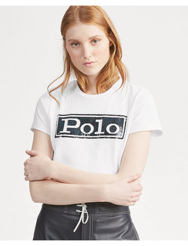 Logo Cotton Crewneck T Shirt by Ralph Lauren