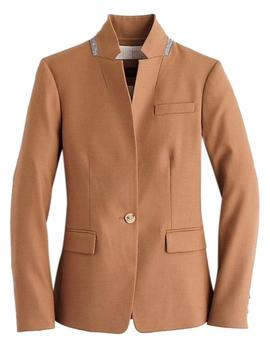 Beige Regent In Wool Flannel Blazer by J.Crew