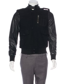 Wool & Leather Utility Jacket by Surface To Air
