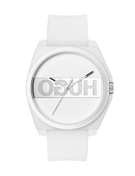 Unisex Reverse Logo Watch With White Silicone Strap by Boss
