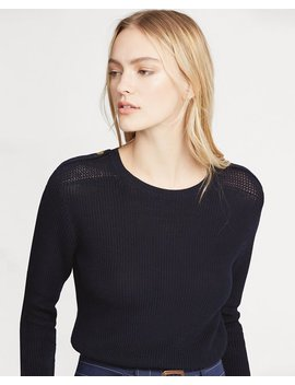 Button Shoulder Cotton Sweater by Ralph Lauren
