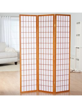 Simora Honey Shoji 3 Panel Room Divider by Finley Home