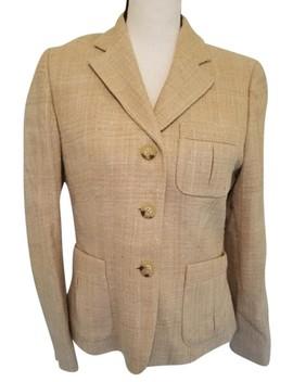 Tan Tweed Career Work Blazer by Lauren Ralph Lauren
