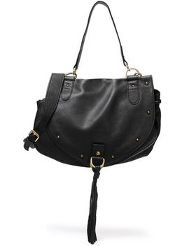 Collins Tasseled Brushed Leather Shoulder Bag by See By ChloÉ