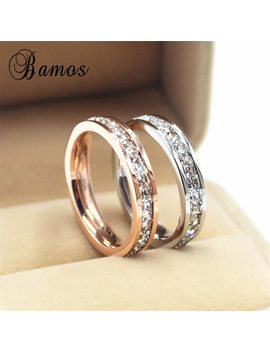 Female Girls Geometric Ring 925 Sterling Silver Filled & Rose Gold Ring Promise Wedding Engagement Rings For Women Best Gifts by Bamos