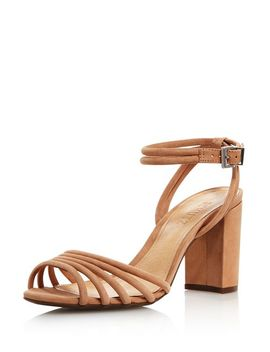 Women's Nicolai Nubuck Leather Block Heel Sandals by Schutz