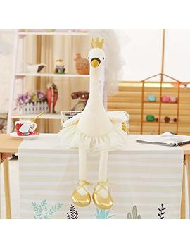 Stuffed & Plush Animals   1pc 35cm Swan Plush Toys Cute Flamingo Doll Stuffed Soft Animal Doll Ballet Swan With Crown Baby Kids Appease Toy Gift For Girl   Girls Dolls Shirt Newborn Lake by Unknown