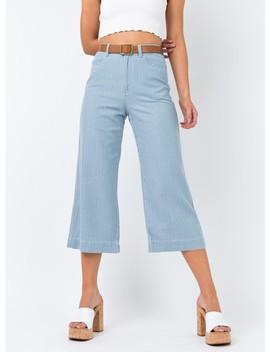 Minkpink Today Stripe Cropped Jeans by Minkpink