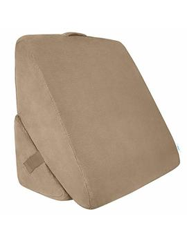Xtra Comfort Bed Wedge Pillow   Folding Memory Foam Incline Cushion System For Back And Legs   Triangle Shaped For Reading, Support   Washable by Xtra Comfort