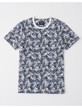 Patterned Crew Tee by Abercrombie & Fitch