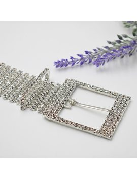 Ylioye Brand Metal Chain Belts Women Luxury Crystal Chain Belt 10 Rows Full Rhinestone Bride Wide Bling Female Waist Belt by Ali Express