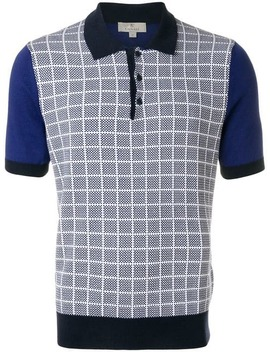 Grid Knit Polo Shirt by Canali
