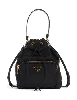 Vela Nylon Bucket Bag by Prada