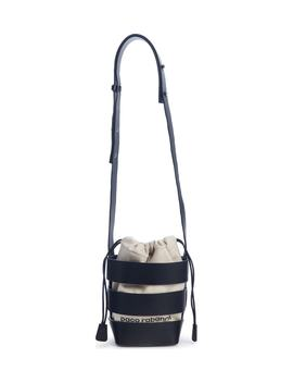 Mini Cage Leather & Canvas Hobo by Paco Rabanne