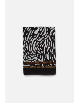 Chain And Animal Print Scarf  View All Accessories Woman Sale by Zara