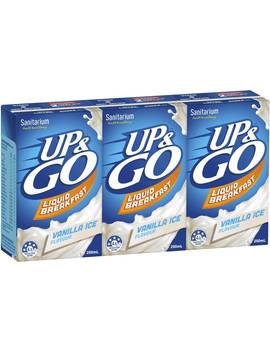 Sanitarium Up&Go Liquid Breakfast Vanilla Ice 3 Pack by Sanitarium