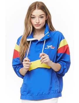 Club Sail Usa Graphic Colorblock Anorak by Forever 21