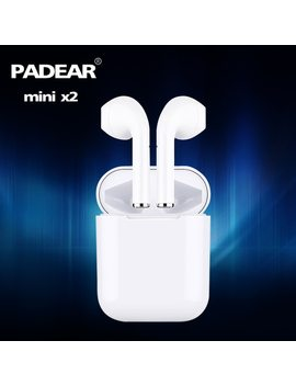 Padear Mini X 2/1 Bluetooth Headset Earbuds Air Pods Wireless Earphone For Iphone Android 6/7/8/Plus X Xs Rs Max Sumsung by Padear