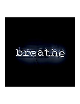 Breathe Neon Sign by Oliver Gal Gallery