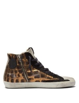 Francy Crocodile Effect Calf Hair Trainers by Golden Goose Deluxe Brand
