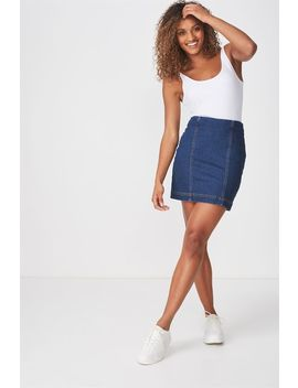 Denim Stretch Mini Skirt by Cotton On