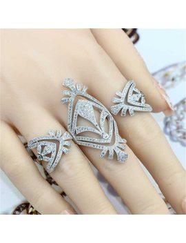 Xa116 Luxury Designer Fashion 925 Sterling Silver Jewelry Zirconia Snake Shape Az by Aiboduo