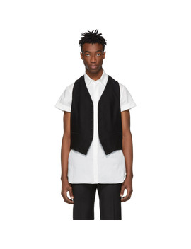 Black Wool Vest by Ann Demeulemeester