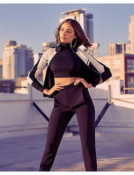 Olivia Culpo High Waisted Track Pant by Express