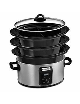 Crock Pot® Choose A Crock Programmable Slow Cooker With Stackable Storage And Dishwasher Safe Stoneware And Lid by Amazon