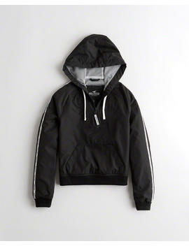 Half Zip Hooded Windbreaker by Hollister