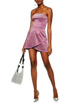 Glitter Bandeau Minidress by Topshop