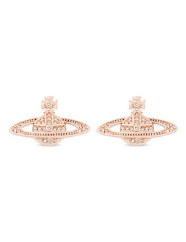 Mini Bas Relief Diamante Orb Earrings by Vivienne Westwood Jewelry