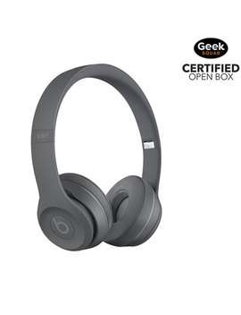 Beats By Dr. Dre Solo 3 On Ear Sound Isolating Bluetooth Headphones   Asphalt Grey   Open Box by Beats By Dr. Dre