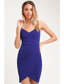 Forever Your Girl Royal Blue Bodycon Dress by Lulus
