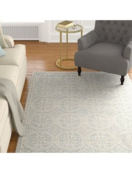 Alcott Hill Landen Hand Tufted Silver/Ivory Area Rug & Reviews by Alcott Hill