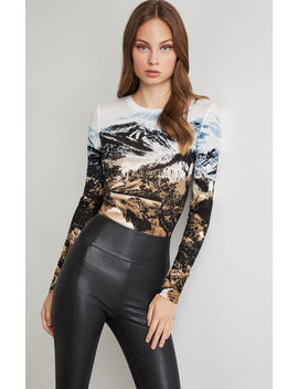 Graphic Print Knit Top by Bcbgmaxazria