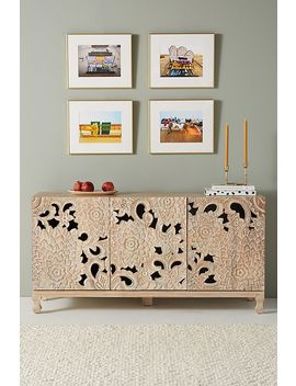 Handcarved Lotus Sideboard by Anthropologie