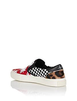 Men's Palm Print Slip On Sneakers by Amiri