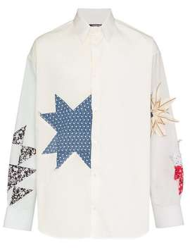 Embroidered Detail Button Down Cotton Shirt by Calvin Klein 205 W39nyc