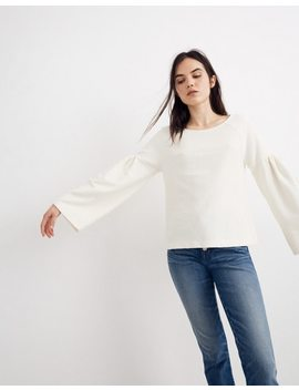 Texture & Thread Shirred Sleeve Top by Madewell