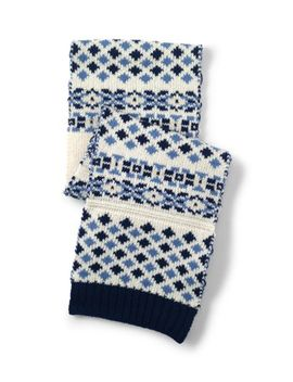 Women's Fair Isle Scarf by Lands' End