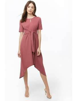Tie Front Handkerchief Hem Dress by Forever 21