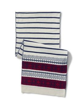 Women's Stripe Fair Isle Scarf by Lands' End