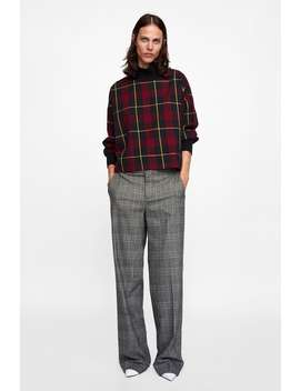 Ribbed Plaid Top  Starting From 70 Percents Offwoman Sale by Zara
