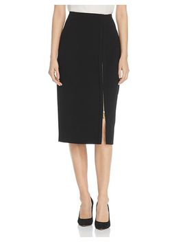 Zip Slit Pencil Skirt by Donna Karan New York